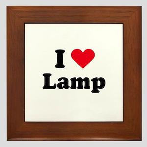 I love lamp Framed Tile