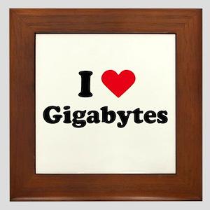 I love gigabytes Framed Tile