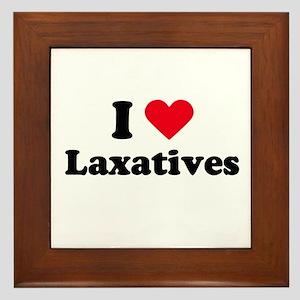 I love laxatives Framed Tile
