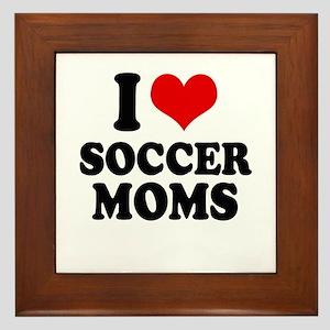 I love soccer moms Framed Tile