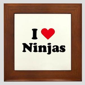 I love ninjas Framed Tile