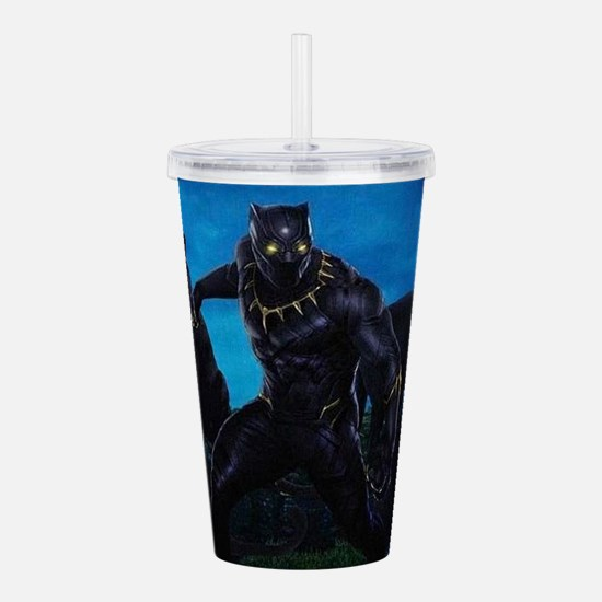The Black Panther Acrylic Double-wall Tumbler
