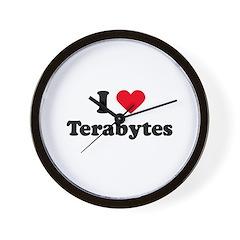 I love terabytes Wall Clock