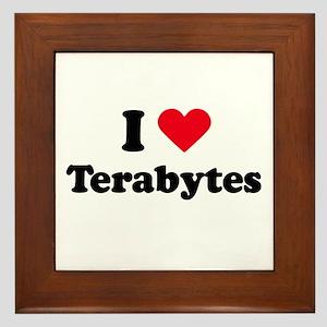 I love terabytes Framed Tile