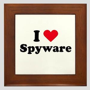 I love spyware Framed Tile