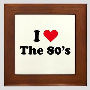 I love the 80s Framed Tile