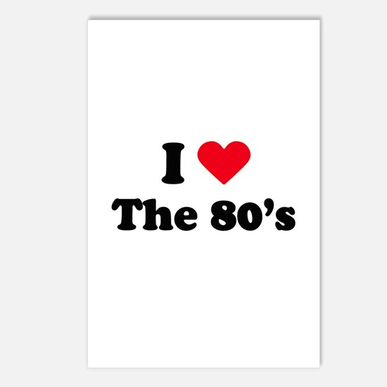 I love the 80s Postcards (Package of 8)