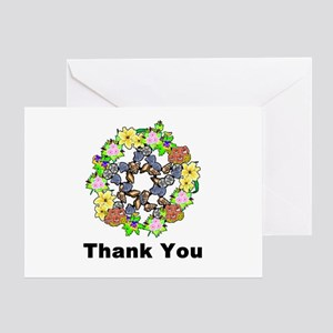 Pagan Pentagram Thank You Greeting Card
