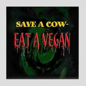 Save a Cow Tile Coaster