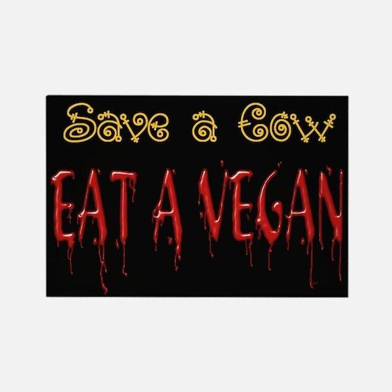 Eat a Vegan Rectangle Magnet