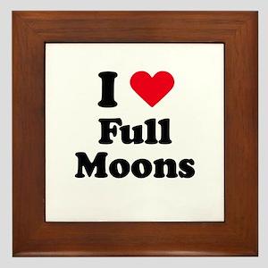 I love full moons Framed Tile