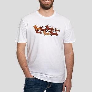 Dachsund Cartoon Fitted T-Shirt