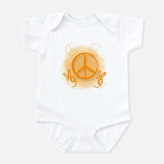 Peace Symbol & V-Sign Color Infant Bodysuit
