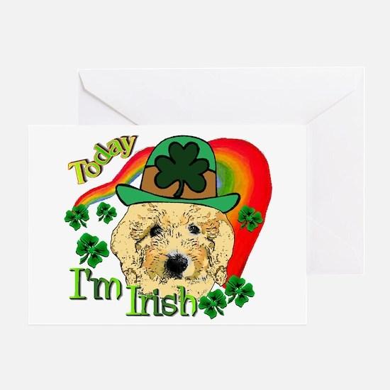 St. Patricks Goldendoodle Greeting Card