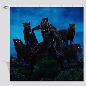 The Black Panther Shower Curtain