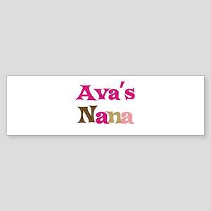 Ava's Nana Bumper Sticker