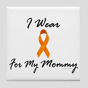 I Wear Orange For My Mommy 1 Tile Coaster