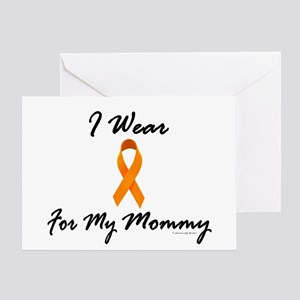 I Wear Orange For My Mommy 1 Greeting Card