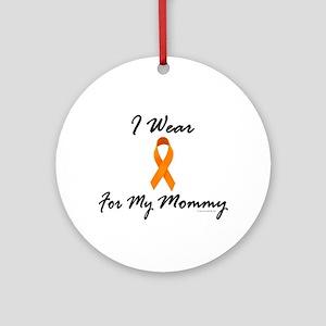I Wear Orange For My Mommy 1 Ornament (Round)