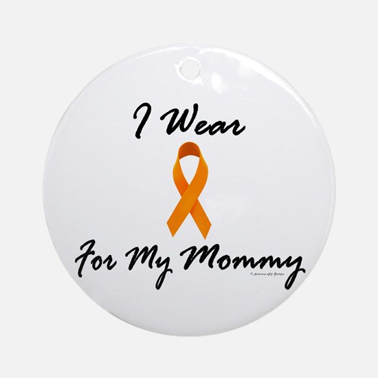 I Wear Orange For My Mommy 1 Ornament (Round)