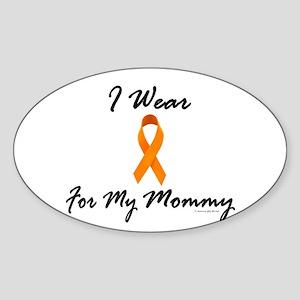 I Wear Orange For My Mommy 1 Oval Sticker