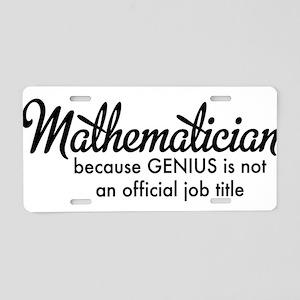 Mathematician Aluminum License Plate
