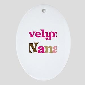 Evelyn's Nana Oval Ornament