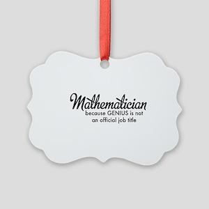 Mathematician Picture Ornament