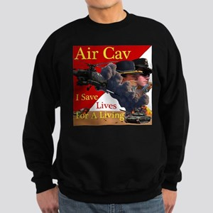 Air Cav Saves Lives Sweatshirt (dark)