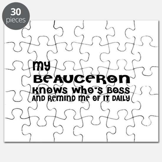 My Beauceron Dog Designs Puzzle