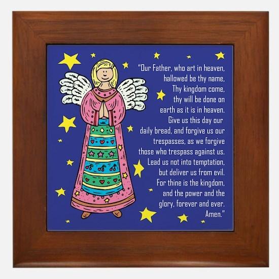 Prayer Angel Framed Tile