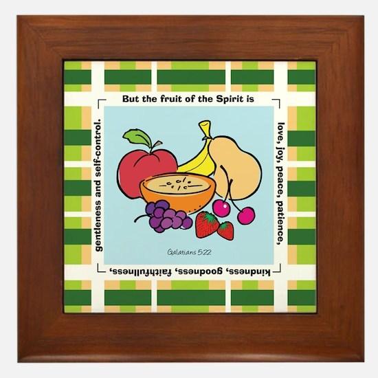 Fruit Framed Tile