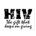 HIV The gift that keeps on gi Postcards (Package o