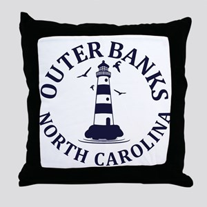 Summer outer banks- North Carolina Throw Pillow