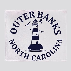 Summer outer banks- North Carolina Throw Blanket