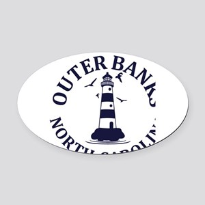 Summer outer banks- North Carolina Oval Car Magnet