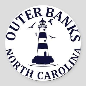 Summer outer banks- North Carolin Round Car Magnet