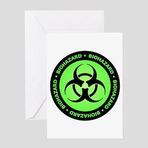 Green & Black Biohazard Greeting Card