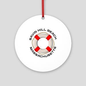 Massachusetts - Savin Hill Beach Round Ornament