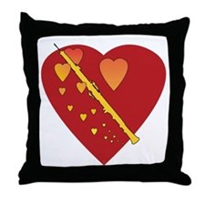 Oboe Heartsong Throw Pillow
