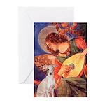 Mandolin / Ital Greyhound Greeting Cards (Pk of 10
