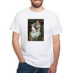 Ophelia / Italian Greyhound White T-Shirt