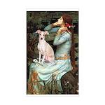 Ophelia / Italian Greyhound Sticker (Rectangle)