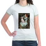 Ophelia / Italian Greyhound Jr. Ringer T-Shirt