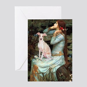 Ophelia / Italian Greyhound Greeting Card