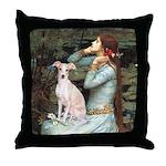 Ophelia / Italian Greyhound Throw Pillow