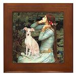 Ophelia / Italian Greyhound Framed Tile