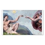 Creation / Ital Greyhound Sticker (Rectangle)