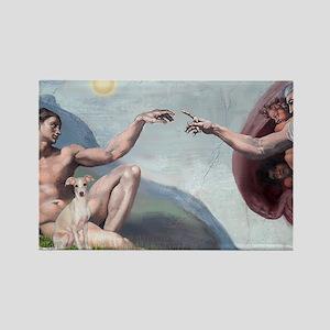 Creation / Ital Greyhound Rectangle Magnet