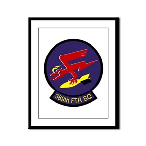 389th Fighter Squadron  Framed Panel Print